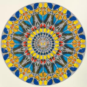 Damien Hirst, Psalm Print: Confitebor tibi (diamond dust)