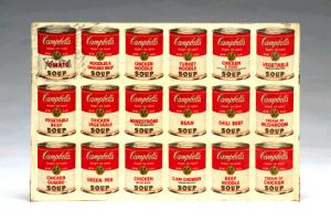 inscribed and signed tin Campbell So