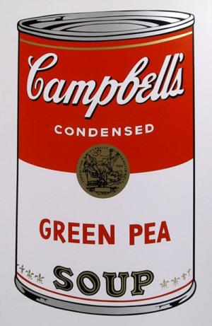 Campbell Soup Can: Green Pea