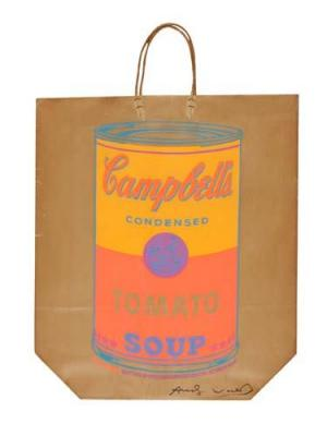Campbell's Soup Can on Shopping Bag (Signed)