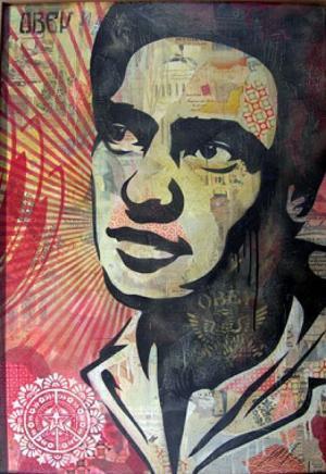 Shepard Fairey, Huey Newton Canvas