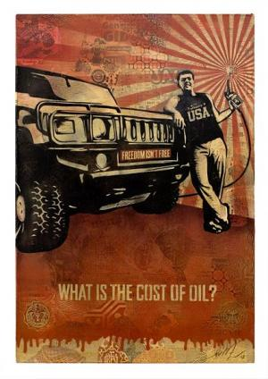 Shepard Fairey, Cost of Oil Canvas