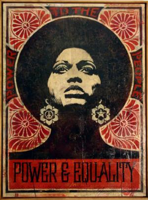 Shepard Fairey, Afrocentric Canvas 