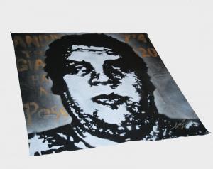 Shepard Fairey, OG Andre Stencil on Bandana