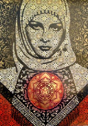 Shepard Fairey, Arab Woman Reworked