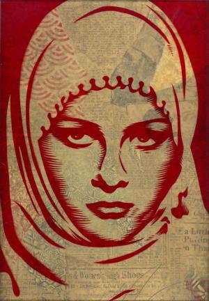 Shepard Fairey, Arab Woman Rubylith