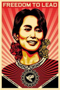 Shepard Fairey, Aung San Suu Kyi Offset (Open Edition)