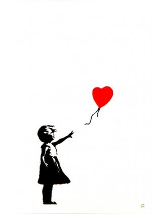 Banksy, Girl With Red Balloon Unsigned