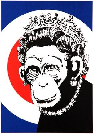 Banksy, Monkey Queen Unsigned