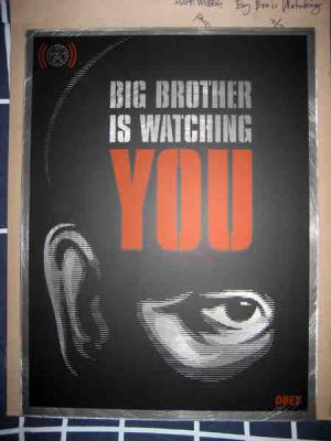 Shepard Fairey, Big Brother is Watching on Metal