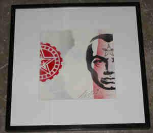 Shepard Fairey, Big Brother Stencil Collage on Album Cover