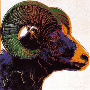 Andy Warhol, Bighorn Ram - Endangered Species Suite of 10