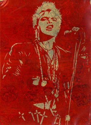 Shepard Fairey, Billy Idol (Snarl) Rubylith