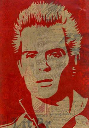 Shepard Fairey, Billy Idol (Suprised) Rubylith