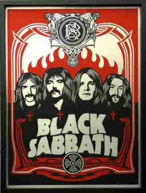 Shepard Fairey, Black Sabbath Red on Metal