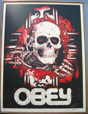Shepard Fairey, Bones Ripper on Wood Year: 2005
