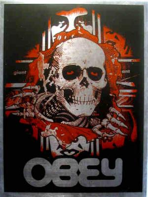 Shepard Fairey, Bones Ripper on Metal