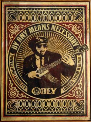 Shepard Fairey, By Any Means Necessary Canvas
