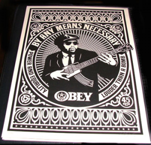 Shepard Fairey, By Any Means Necessary Black