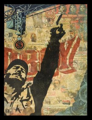 Shepard Fairey, Castro Collage Canvas