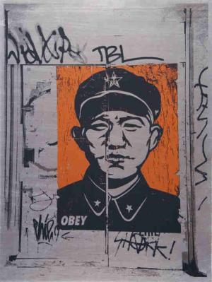 Shepard Fairey, Chinese San Francisco on Metal