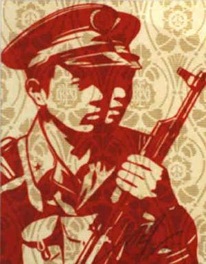 Shepard Fairey, Chinese Soldiers Rubylith
