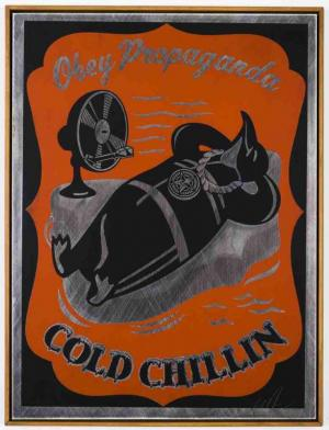 Shepard Fairey, Cold Chillin on Metal