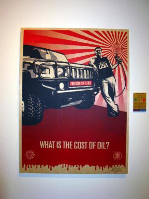 Shepard Fairey, Cost of Oil on Wood - Large