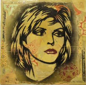 Shepard Fairey, Debbie Harry Retired Stencil on Album Cover