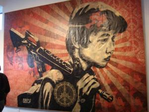 Shepard Fairey, Duality of Humanity 2 Installation