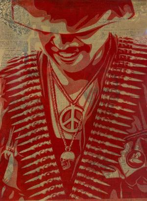 Shepard Fairey, Duality of Humanity 1 Rubylith