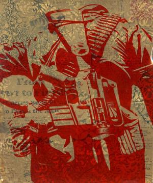 Shepard Fairey, Duality of Humanity 3 Rubylith