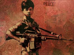 Shepard Fairey, Duality of Humanity 4 Canvas