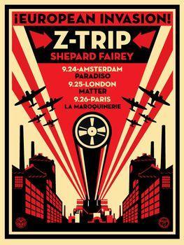 Shepard Fairey, European Invasion Z-Trip