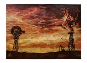 Shepard Fairey, Evolve Devolve Stencil Collage on Paper