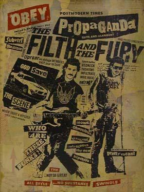 Shepard Fairey, Filth and Fury HPM on Wood