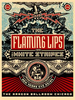 Shepard Fairey, Flaming Lips New Years Eve 