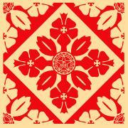 Shepard Fairey, Floral Pattern 3