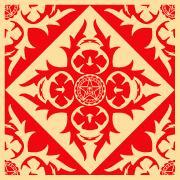 Shepard Fairey, Floral Pattern 8