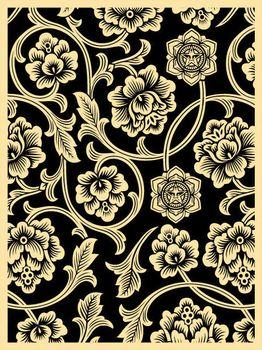 Shepard Fairey, Flower Vine Black