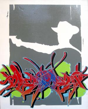 Resles Graffiti Pieces on Canvas
