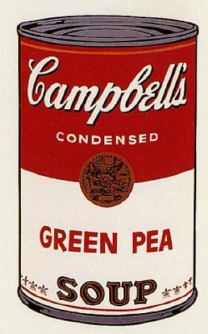 Andy Warhol, Green Pea Soup - Campbell's Soup I