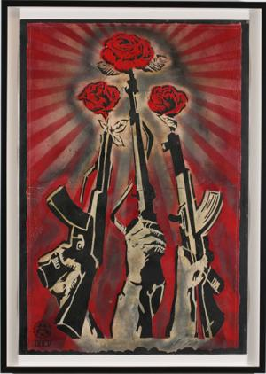 Shepard Fairey, Guns and Roses Retired Stencil