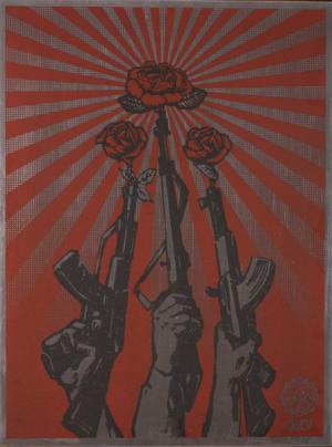 Shepard Fairey, Guns and Roses on Metal