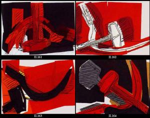 Andy Warhol, Hammer and Sickle suite of 4
