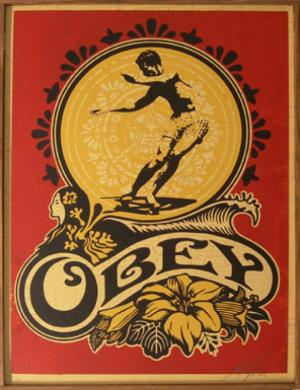 Shepard Fairey, Hawaii Skater on Wood
