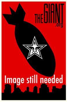 Shepard Fairey, Vivi La Revolution Stencil Collage on Paper