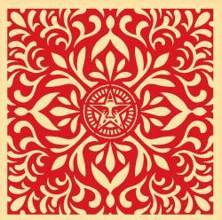 Shepard Fairey, Japanese Fabric Pattern Red 2