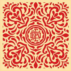 Shepard Fairey, Japanese Fabric Pattern Red 3