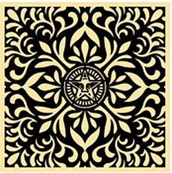Shepard Fairey, Japanese Fabric Pattern Black 2